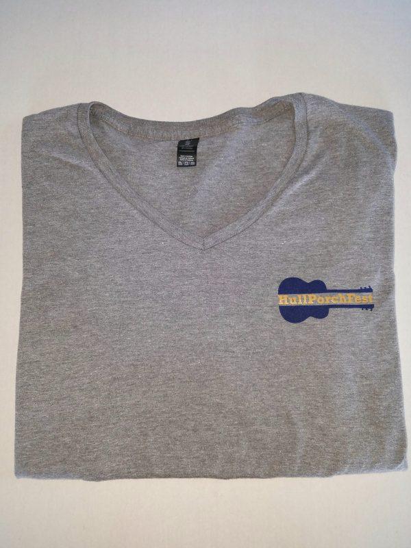Ladies V-Neck Hull PorchFest T Shirt