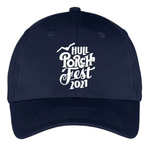 navy blue hull porchfest embroidered hat
