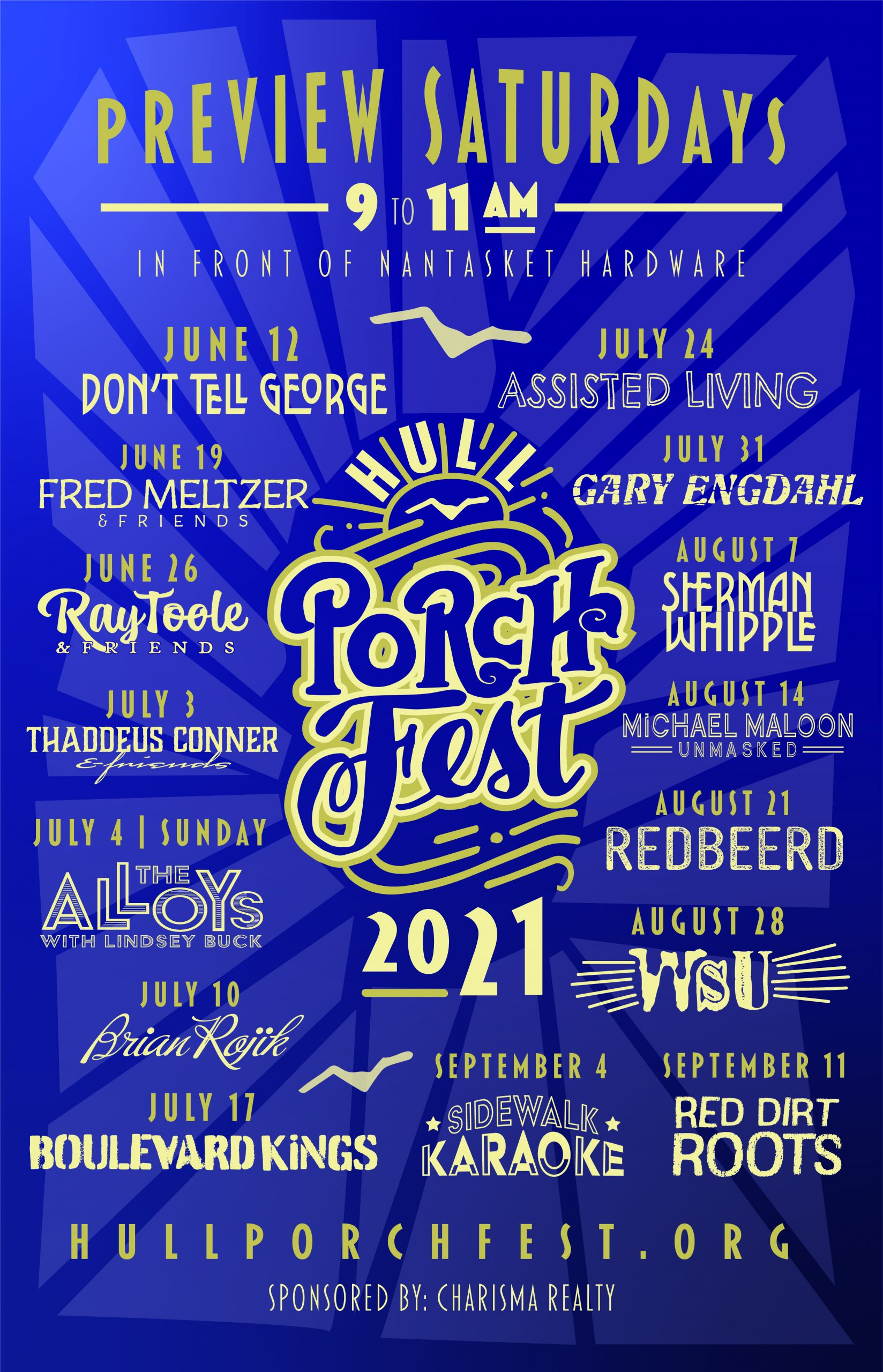 hull porchfest preview saturdays poster